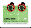 Ladybug Clip-Over-The-Page Bookmarks Set of Two by Re-Marks