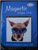 Chihuahua with Goggles Deluxe Single Magnetic Page Clip Bookmark by Re-marks