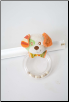 Orange Dog Ring Rattle by Douglas