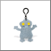 "Clip On Babo - Gray 4"" Uglydoll by Pretty Ugly"