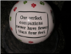 "Ceramic Pet Ornament ""Our Perfect Companions Never Have Fewer than Four Feet "" by Tumbleweed Pottery"