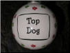 "Ceramic Dog Ornament ""Top Dog"" by Tumbleweed Pottery"