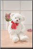 "Regina Valentine White Bear 18"" by Gund"