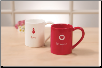 Valentine Ceramic Mugs 14 oz by Gund