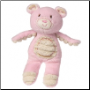 Thready Teddy Plush Rattle – Pink – 6.5″ by Mary Meyer