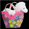 "Fly Away Tote with White Horse 7"" by Douglas"