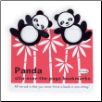 Panda Clip-Over-The-Page Bookmarks Set of Two by Re-Marks