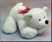 "Floppy Valentine Bear with Huge Feet 33"" by Wishpets"