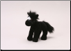 "Small Standing Black and White Horse 8"" by Unipak"