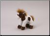"Small Standing Brown and White Horse 8"" by Unipak"
