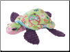 "Merdle Lime Green Peace Turtle Fuzzle 12"" by Douglas"