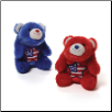 "Lil Snuffles Small Americana Blue or Red Bear 5""  by Gund"