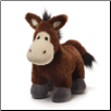 "Dewey Brown Donkey 9"" by Gund"