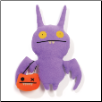 "Halloween Purple Poe Trick or Treat 10"" Uglydoll by Pretty Ugly"