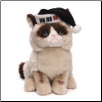 "Grumpy Cat with Black Santa Hat 9"" by Gund"
