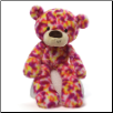 "Janeice Pink Spotted Take Along Teddy Bear 13.5"" by Gund"