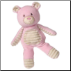 "Thready Teddy Pink Plush Bear 11"" by Mary Meyer"