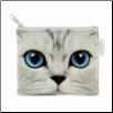 Silver Kitty Zip Purse / Coin Purse by Catseye London
