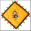 "TAGGIES Dazzle Dots Monkey Cozy Blanket 16"" by Mary Meyer"