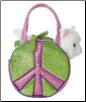 "Fancy Pals Peace Earth White Cat Carrier 7"" by Aurora"