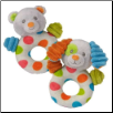 "Puppy or Teddy Bear Confetti Rattle 5"" by Mary Meyer"