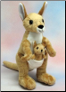 "Kangaroo and Baby 10.5"" by Wishpets"
