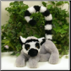 "Leslie Lemur with a Bendable Tail 11"" by Wishpets"