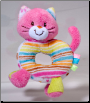 "Kitty Hand Rattle 4"" by Douglas"