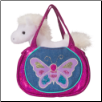 "Shimmering Butterfly Sak Tote with White Horse 7"" by Douglas"