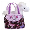 "Pink Filly Tote with Horse 7"" by Douglas"