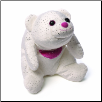 "Snuffles Medium White Glitter Bear 8""  by Gund"
