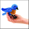 "Mini Bluebird Finger Puppet 5"" by Folkmanis"