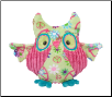 "Logan Lime Green Peace Owl Fuzzle 10"" by Douglas"