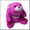 "Snuffles Medium Bright Pink Glitter Bear 8""  by Gund"