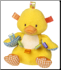 "TAGGIES Dipsy Duck Soft Toy 10"" by Mary Meyer"