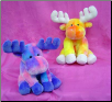 "Tie Dye Moose 8"" by Wishpets"