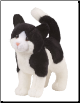 "Scooter Black and White Cat 12"" by Douglas"