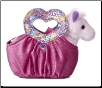 "Hot Pink Heartfelt Pet Carrier with Horse 8"" by Aurora"