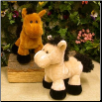"Maxwell Curly Mane and Tail Horse 8"" by Wishpets"