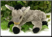 "Jeannette Lying Down Baby Donkey 9"" by Wishpets"
