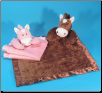 "Horse Baby Blanket 16"" by Wishpets"