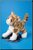 "Sadie Tiger Stripe Cat 8"" by Douglas"