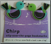 Chirp Bird Clip-Over-The-Page Bookmarks Set of Two by Re-Marks