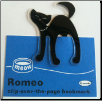 Romeo Black Cat Clip-Over-The-Page Bookmark by Re-Marks