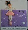 Lily Ballerina Clip-Over-The-Page Bookmark by Re-Marks