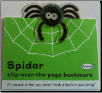 Spider Clip-Over-The-Page Bookmark by Re-Marks
