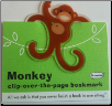 Monkey Clip-Over-The-Page Bookmark by Re-Marks
