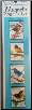 Bird Stamps Illustrated Magnetic Page Clips Set of 4 by Re-marks