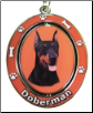 Doberman Spinning Dog Key Chain by E and S Imports