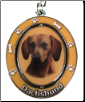 Red Dachshund Spinning Dog Key Chain by E and S Imports